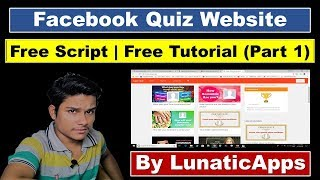 [Hindi] How to make facebook quiz website? |  Free Script For Facebook Quiz Website by LunaticApps