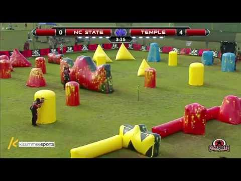 North Carolina State University vs. Temple University - 2016 NCPA College Paintball Prelims