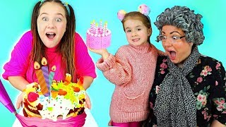 Happy Birthday Song Ruby & Bonnie Sing-Along and Cake Making Challenge