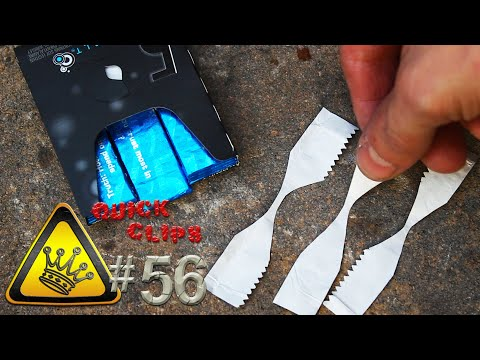 How to start a fire with a gum wrapper, and a flashlight battery.