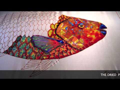 JEAN-BAPTISTE FINE ART ON SILK - FISH