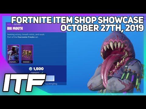 Fortnite Item Shop *NEW* BIG MOUTH SET + WRAP! [October 27thth, 2019] (Fortnite Battle Royale)