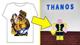 I BOUGHT THIS T-SHIRT AND TURNED THANOS INTO ROBLOX 💪🏼