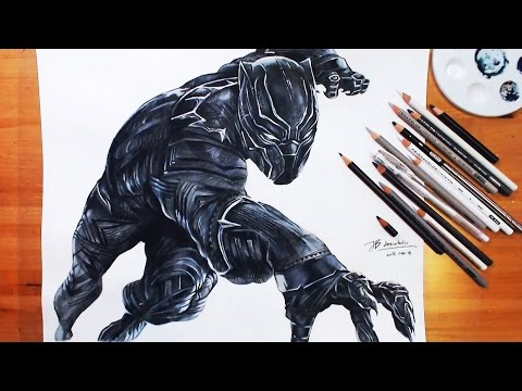 speed drawing black panther captain america civil war drawholic