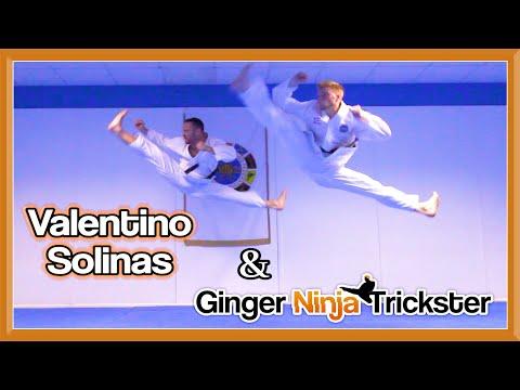 Taekwondo Kicking & Tricking Sampler ft Valentino Solinas   Flips & Kicks
