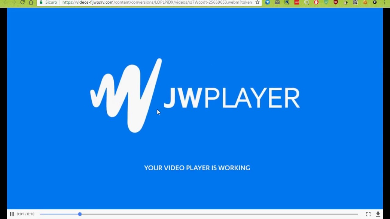 video jwplayer chrome