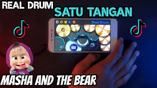 Viral Tik Tok..! Dj Masha And The Bear - Real Drum Satu Tangan Cover