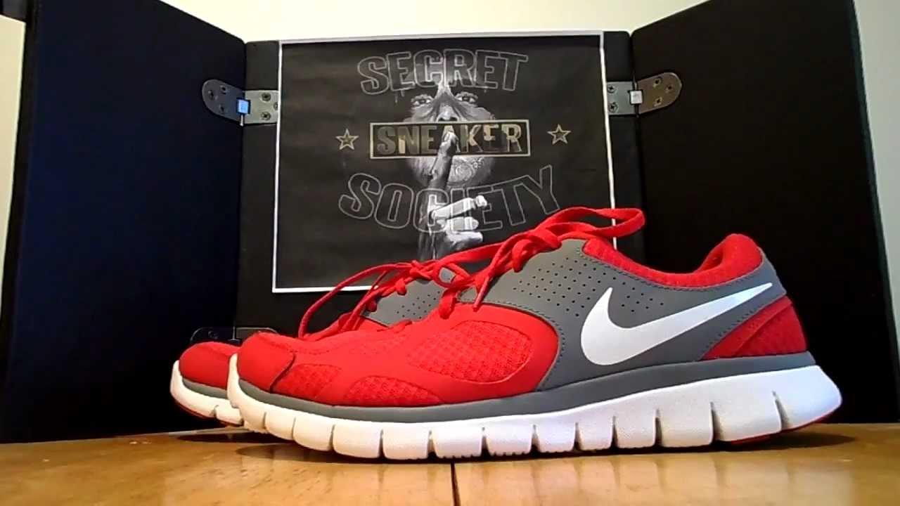 f642feda6ded Nike Flex Run Red Grey White Review  Secret Sneaker Society  - YouTube