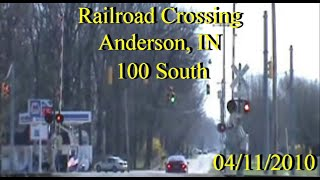 Railroad Crossing: County Road 100 South, Near Anderson, IN., CSX Main Tracks 1&2