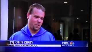 John Kirby/Patrick Walsh Interview about Tom Brady during Super Bowl-Patriots vs. Giants