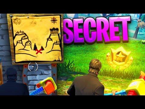 """NEW """"SECRET TREASURE"""" in SNOBBY SHORES! - Fortnite Battle Royale"""