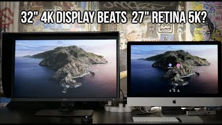 "32"" 4K Display BEATS 27"" Retina 5K? (BenQ SW 321c vs. my iMac)"