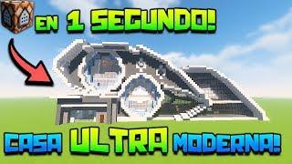 Minecraft | CASA ULTRA MODERNA con UN SOLO COMANDO! + TUTORIAL | SIN MODS!