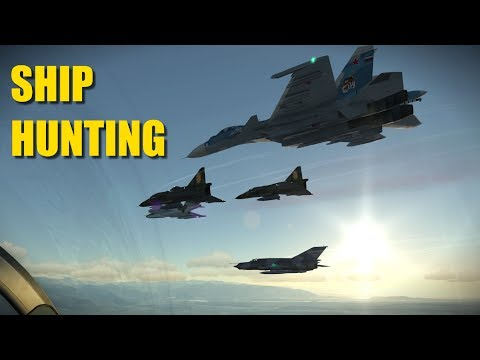 Reapers Hunt Aircraft Carrier In Indian Ocean 2ND ATTEMPT! | Su-27 F-5 Viggen Mig-21 | DCS