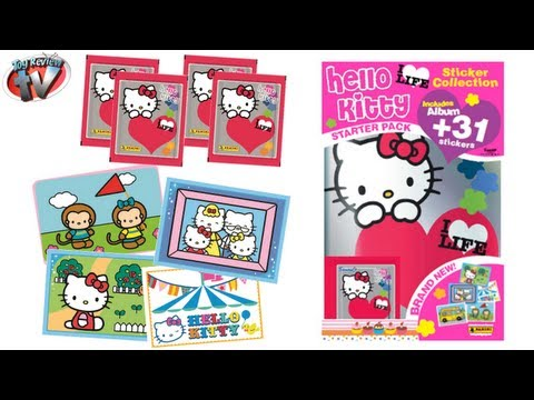 Hello Kitty I ♥ Life Sticker Collection Album Starter Pack Toy Review, Panini