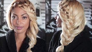 Коса водопад кружевная ★ Ажурная причёска с плетением на средние, длинные волосы
