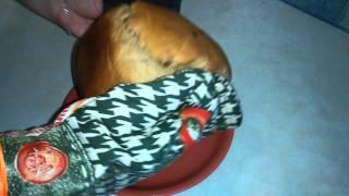 Хлебопечка готовый хлеб пшенично-ржаной с изюмом