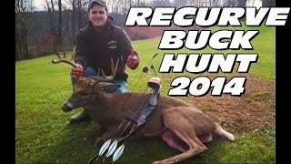 Recurve Bow Deer Hunting 10 Point Buck 2014 - Shane
