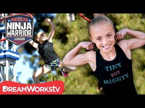 "AMERICAN NINJA WARRIOR JUNIOR  ""Tiny but Mighty"" BEAST MODE Gymnast Goes Far"