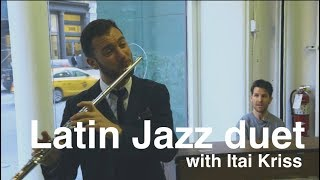 Latin Jazz Piano and Flute duet - NYC Music Pop up