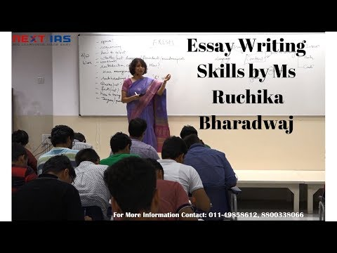 Open Session on Essay Writing Skills by Ms  Ruchika Bharadwaj at NEXT IAS