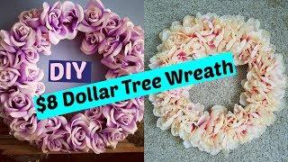 $8 DIY Dollar Tree Wreath