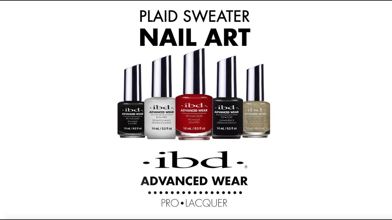 Tutorial: Plaid Sweater Nail Art using ibd Advanced Wear Lacquer ...