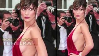Bella Hadid Exposes HOT Side BOOBS In Plunging Backless Dress With Daring Slits - Checkout!