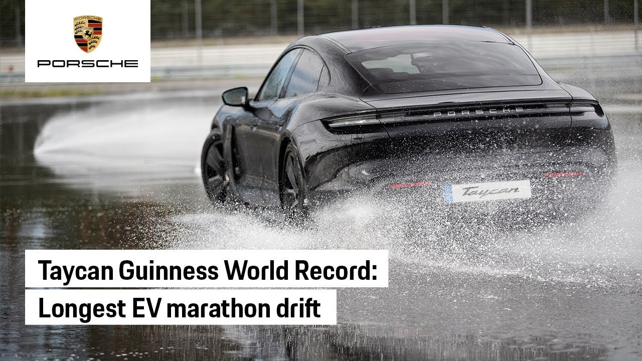 The Porsche Taycan Drifts into the Guinness World Records