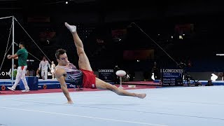 Sam Mikulak (USA) FX 2019 Worlds Stuttgart - Podium Training