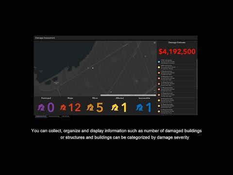 Esri Canada's Damage Assessment Dashboard