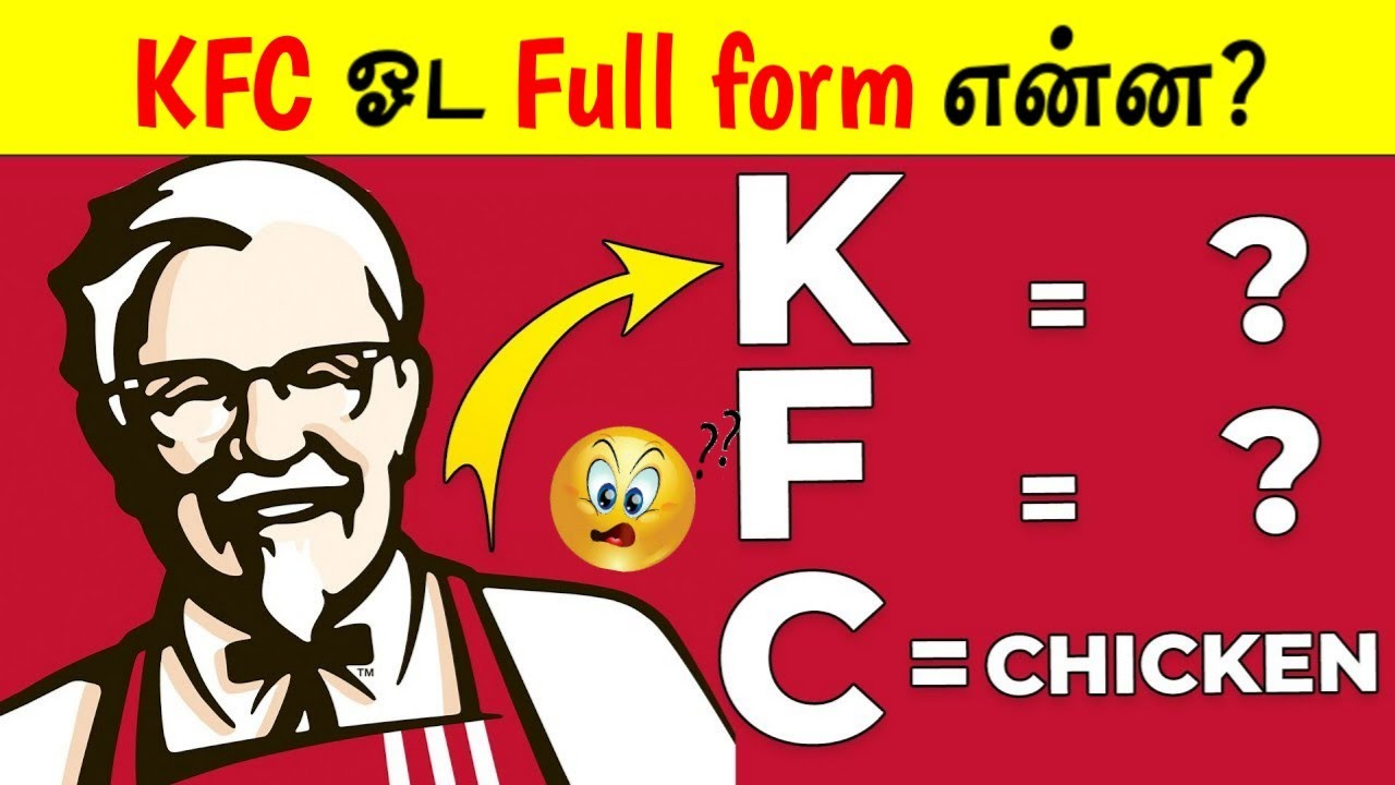 KFC ஓட Full form என்ன? | Facts In Minutes_Fact In Tamil_Minutes Mystery_#short