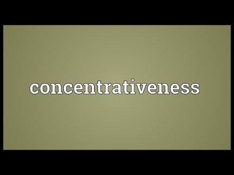 Header of concentrativeness