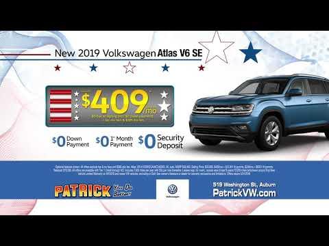 Patrick Motors Volkswagen Sign then Drive Event Atlas May 2019 Lease Deal