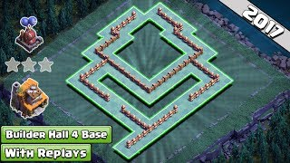 Clash of Clans Builder Hall 4 (BH4) base 2017 Anti Everything ♦ Anti 1 star BH4 base 2017