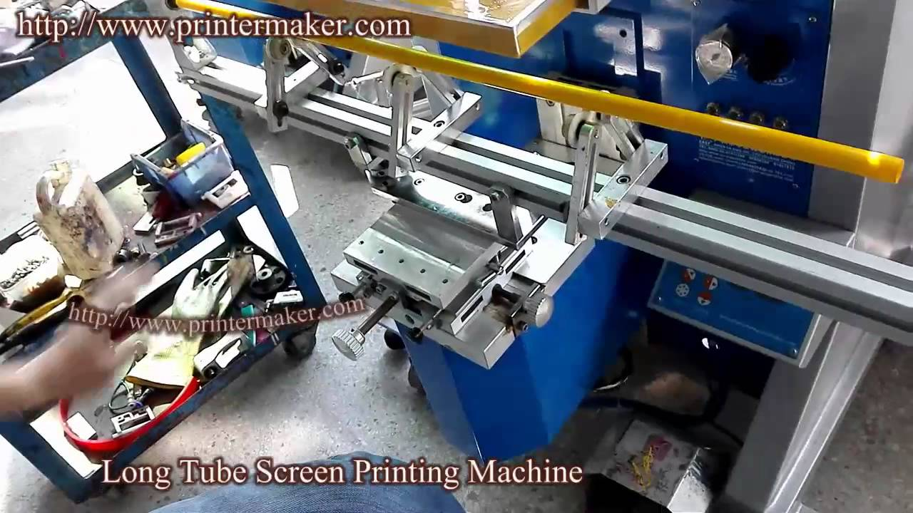 Plastic long tubes silk screen printing machine,screen printing machine for  hard tubes