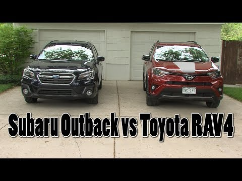 Outback vs RAV4 Adventure Series