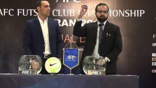 AFC Futsal Club Championship Iran 2015 - Official Draw