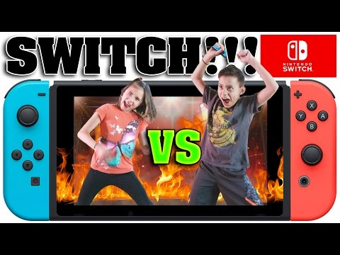 NINTENDO SWITCH CHALLENGE!!! Head to Head Battle with 1-2-Switch!