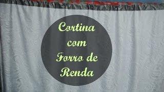 CORTINA DE BLECAUTE COM FORRO DE RENDA