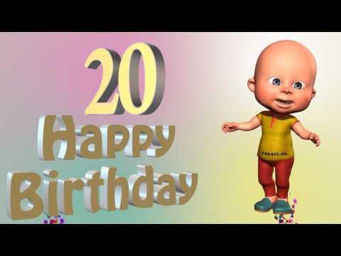 Lustiges Geburtstags Video Alter 20 Jahre Happy Birthday to you 20