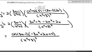 Unit - 2 - Chain Rule with quotient rule