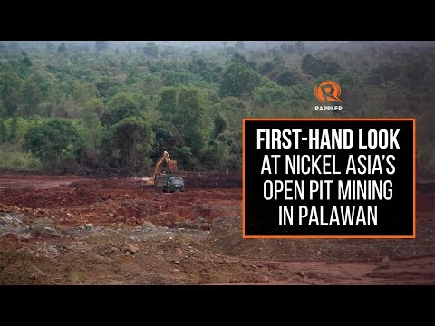 First-hand Look At Nickel Asia's Open Pit Mining In Palawan