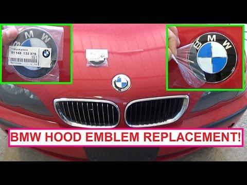 bmw e36 e46 e83 e39 e53 front hood emblem removal and. Black Bedroom Furniture Sets. Home Design Ideas