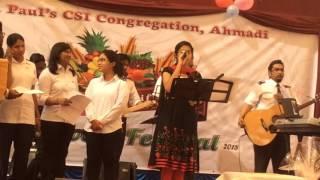 Kuwait Ahmadi CSI Harvest festival 2015...Ammu singing. En yesuve en nathane..