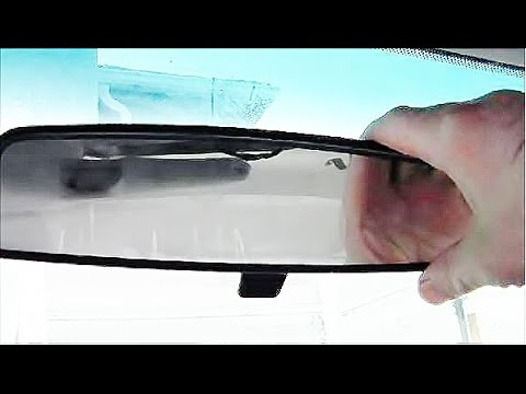 How To Remove Install Rear View Mirror Youtube