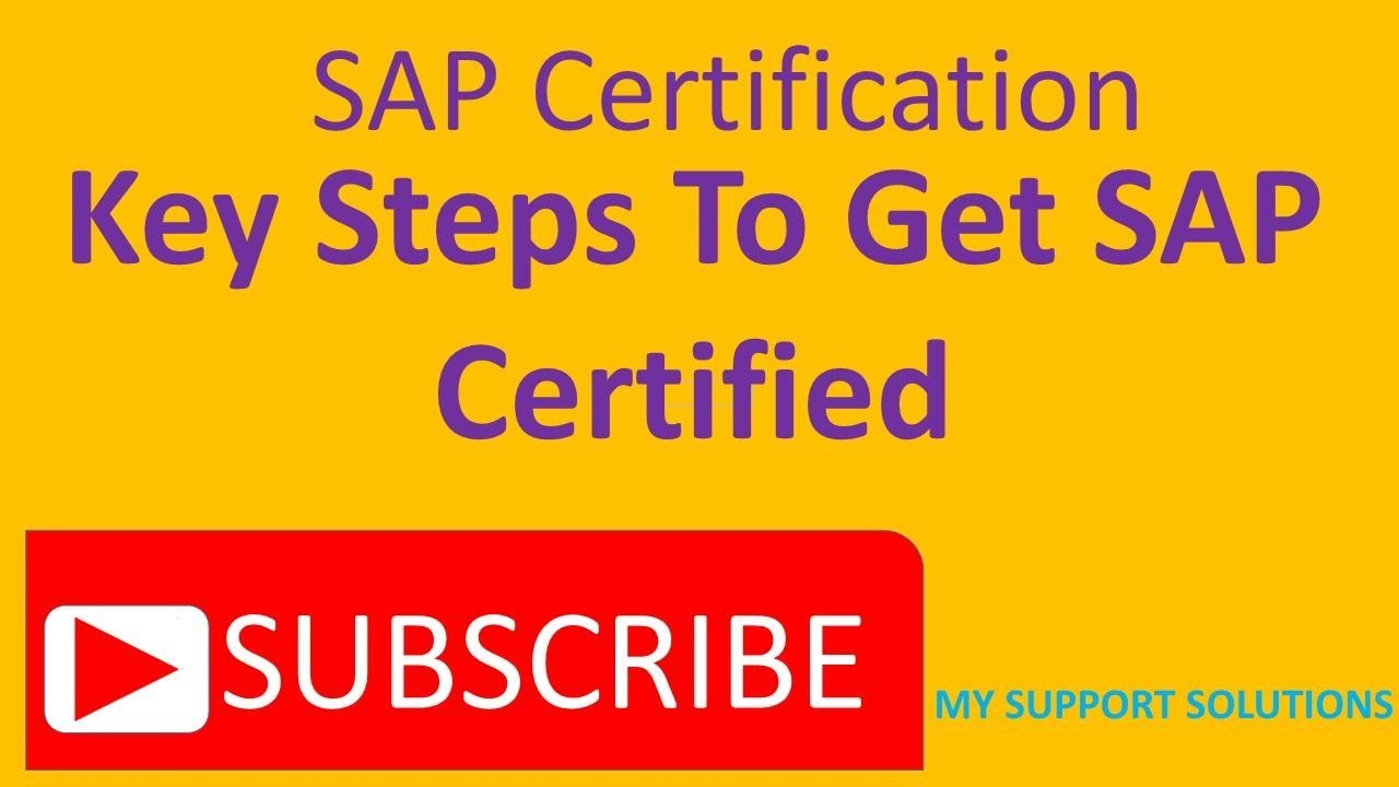 Sap certification key steps to get certified youtube sap certification key steps to get certified xflitez Image collections