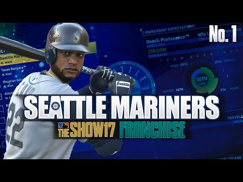MLB The Show 17 Franchise Seattle Mariners Ep. 1