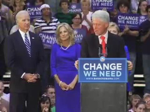 Bill Clinton Introduces Hillary Clinton in Scranton, PA