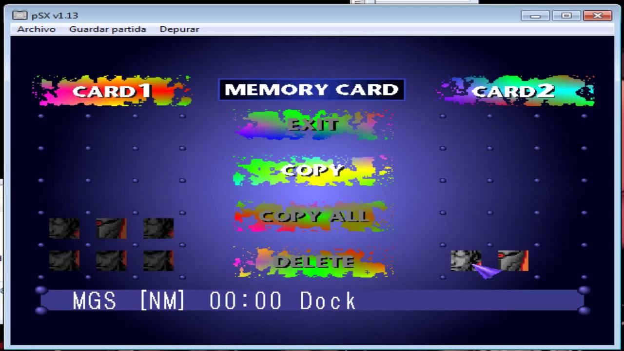 psxfin memory card
